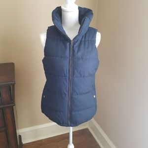 Navy blue puffer vest